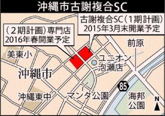 沖縄市古謝複合SC(仮称)の場所