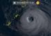 台風19号=21日午前7時10分現在(ひまわり8号リアルタイムウェブから)