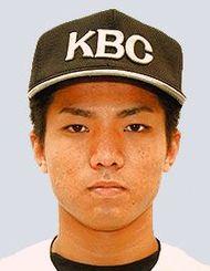 オリックスから5位指名を受けたKBC未来沖縄の宜保翔選手