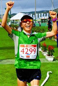 <久米島マラソン>女子フル 57歳の赤坂玲子、自己新で初優勝