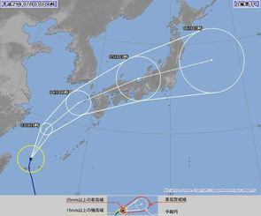 台風3号(3日6時現在、気象庁HP)