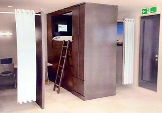 「ザ・マルシェホテル壺川」のキャビン型宿泊スペースのイメージ(「クリアスマネジメント パートナーズ」提供)