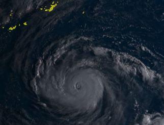 24日午前7時10分現在の台風24号(ひまわり8号リアルタイムwebから)