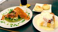 トロトロに煮込んだ三枚肉と軟骨ソーキ、表面はパリッと焼き上げ うるま市赤野「cafe PIPINEO」
