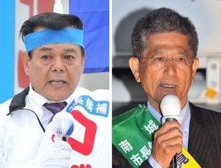 古謝景春氏(左)と瑞慶覧長敏氏
