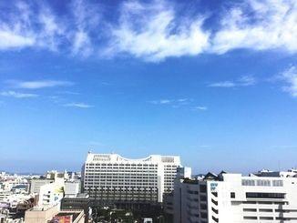 梅雨の中休みで晴天が続く沖縄県