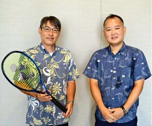 Kazuki Omine (right) and Masaki Tokumura will be supporting participants in the Tokyo Paralympics.