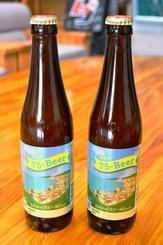 名護湾の風景をイメージした「75-Beer」のパッケージ