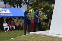 沖縄戦で戦死したピュリツァー賞記者アーニー・パイル 伊江島で慰霊祭