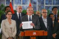 ペルー大統領、失職の危機 汚職疑惑で議会に罷免決議案