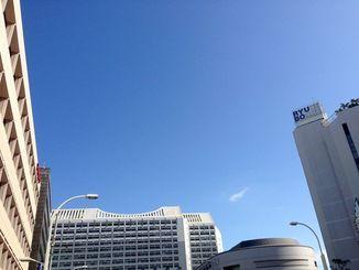 沖縄本島地方は高気圧に覆われて晴れている