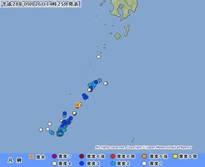各地の震度状況(気象庁HP)