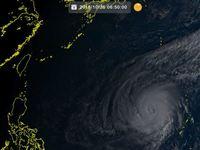 台風26号(イートゥー)非常に強い勢力を維持し、フィリピンの東へ