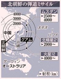 北朝鮮ミサイル向上、グアムへの攻撃を懸念 沖縄海兵隊移転見直し、背景にある米軍の危機感