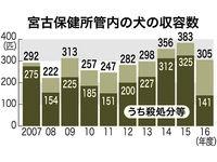 犬の放し飼い禁止、わかってもらえない… 沖縄・宮古保健所管内は収容数高止まり