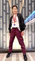 全日本ブレイキン選手権で準優勝に輝いた津波古梨心さん=21日、神奈川県川崎市・とどろきアリーナ(提供)