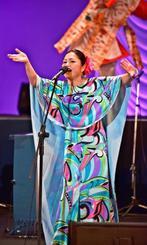 「涙そうそう」などを歌った夏川りみ=台北市・台北国際会議センター