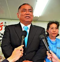 石垣市長選2018:砂川利勝さん「結果を受け止める」