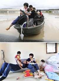西日本豪雨1カ月:ボート救出の家族が心境 みなし仮設入居「一安心」