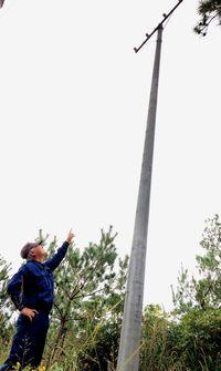 沖縄・基地白書(6)「米軍は自分の土地と思っているんじゃ…」 航空標識灯を設置しても飛行