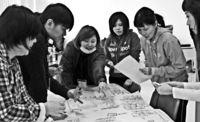 避難所運営の方法体験/うるま 学童支援員が防災研修