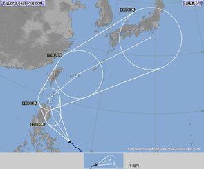 台風6号の進路予想図(気象庁ホームページから)