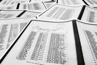 県公文書館に所蔵されている元ハワイ捕虜の県出身者名簿