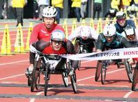 大分車いすマラソン、鈴木が2位 世界選手権の出場権獲得
