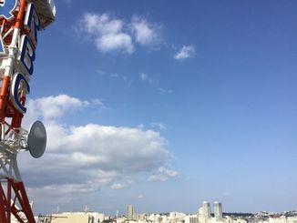 3月24日の那覇市。晴れて青空が広がっていました。