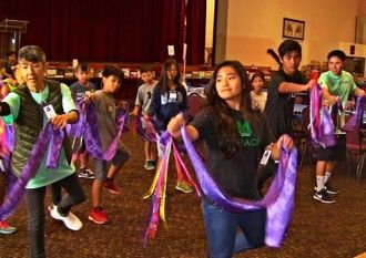 各地域から集まった子どもらが互いに交流を深めたサマーキャンプ=ハワイ