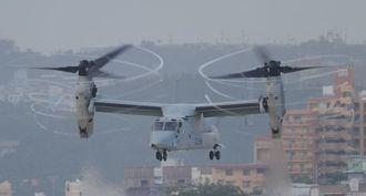 空軍のオスプレイは特殊作戦部隊用で、海兵隊用とは装備に違いがある。写真は海兵隊のオスプレイ。