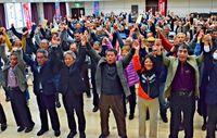 県民投票の実施 宮古島市民要請/集会に300人