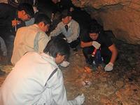 荒らされたチビチリガマ、変わりように衝撃 沖縄、村職員が遺品集める