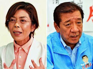 (左から)諸見里宏美氏と桑江朝千夫氏