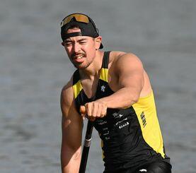 カヌースプリント男子カナディアンシングル1000メートルの當銘孝仁