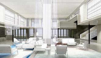 新ホテル「ホテル コレクティブ」の1階ロビーのイメージ図(同社提供)