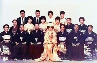 カラー化した結婚式の写真