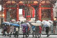 首都圏で大雪、交通混乱 東京都心4年ぶり20センチ超