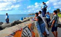 「え、サメがこんなところに…」 2週間前から目撃情報 沖縄