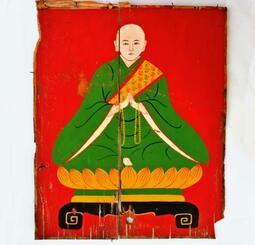 洗浄後の僧侶の絵