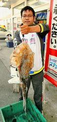 神田伸司さん。伊計島でシルイチャー2.25キロ=12日