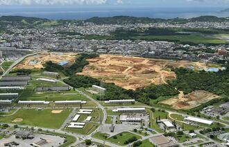 沖縄関係予算で跡地利用の予算が計上される予定の西普天間地区(宜野湾市)