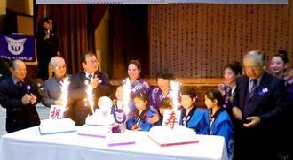 西原町人会60年の歩みを振り返り節目を祝った記念式典=アルゼンチン