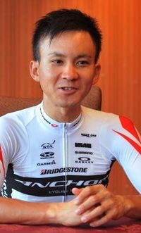 県勢2人でメダル狙う 自転車・内間 初五輪まで3カ月 強い気持ちと練習が糧