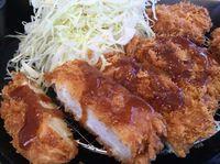 今日もがっつり!運転手メシ(291)北谷町美浜の「とんかつ 松のや」でヒレカツ2枚定食を食べたの巻
