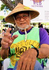 「経営者はタイム・イズ・マニーと知っているからWUBの判断はいつも早い」と話すWUB創設者のロバート・仲宗根氏=2日、ハワイのカピオラニ公園