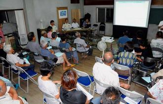 自衛隊配備をめぐり9月20日に千代田地域で開かれた住民説明会