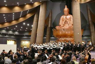平和祈念堂では鎮魂コンサートなどを催し、恒久平和への思いを表してきた=6月、糸満市摩文仁