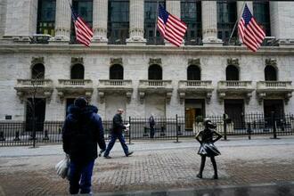 ニューヨーク証券取引所=2月16日(AP=共同)
