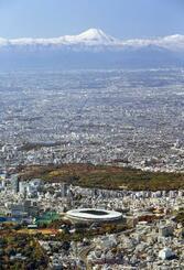 東京都心と富士山